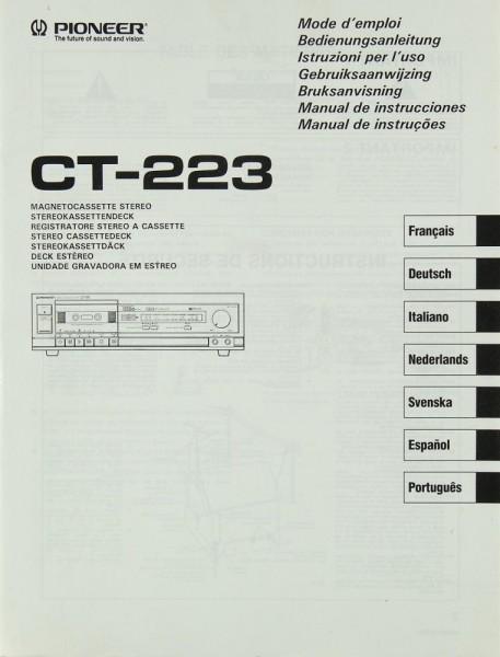 Pioneer CT-223 Bedienungsanleitung