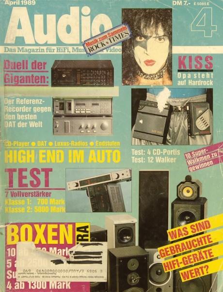 Audio 4/1989 Zeitschrift