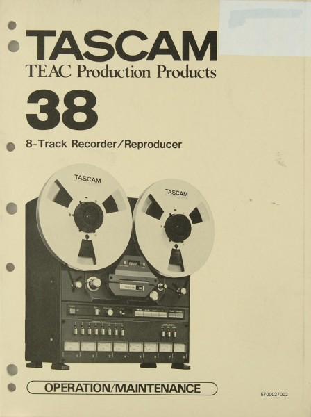 Tascam / Teac Tascam 38 Bedienungsanleitung