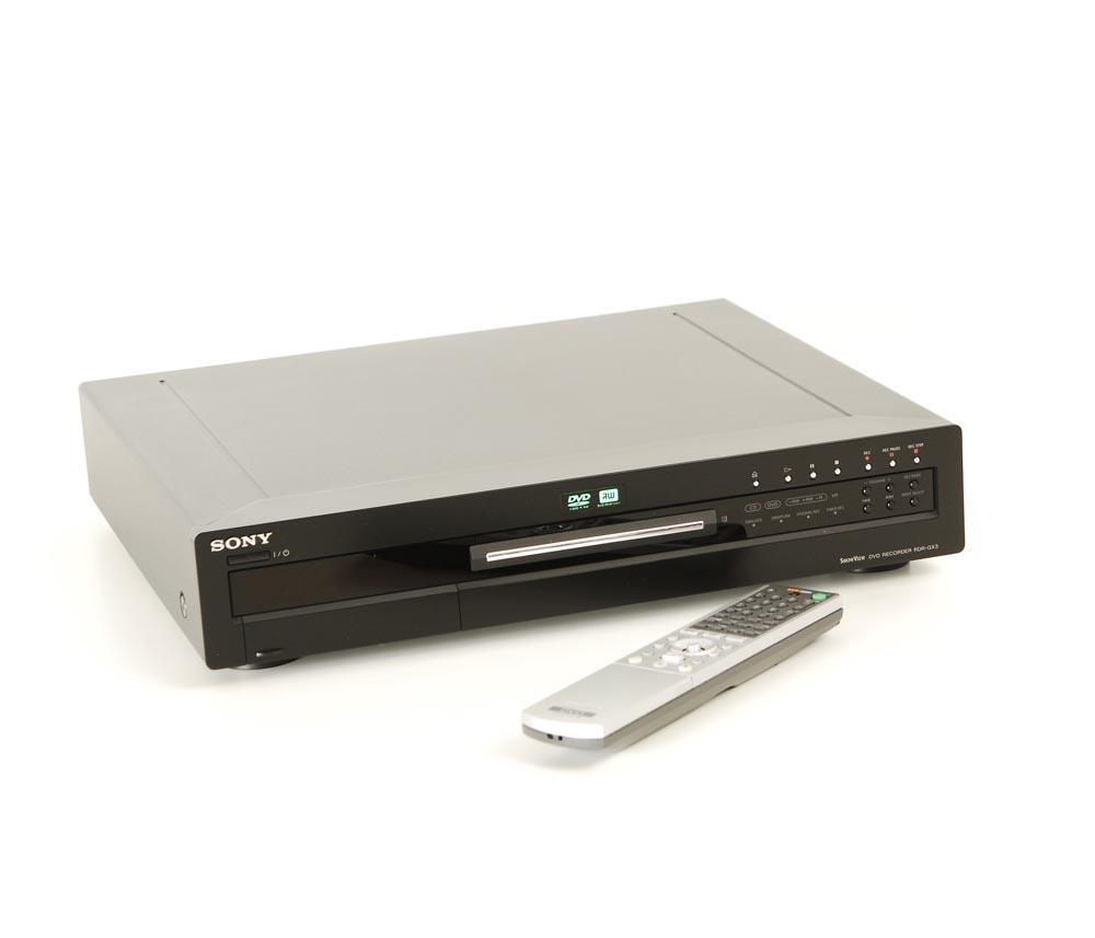 sony rdr gx 3 dvd recorder gebrauchte hifiger te kaufen. Black Bedroom Furniture Sets. Home Design Ideas