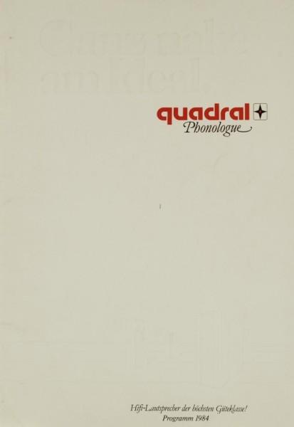 Quadral Phonologue - Programm 1984 Prospekt / Katalog