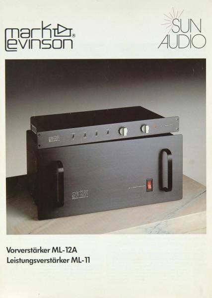 Mark Levinson ML-12 A / ML-11 Prospekt / Katalog