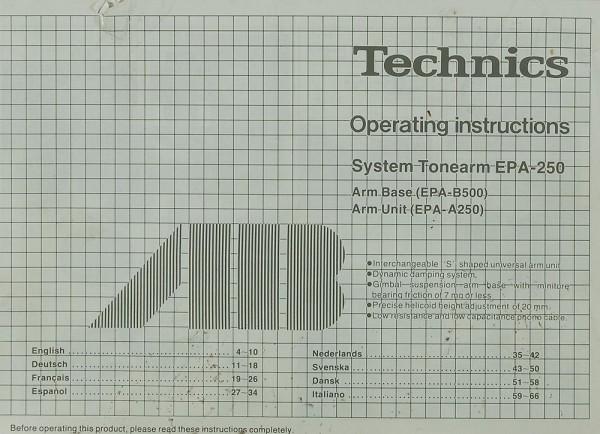Technics EPA-250 Bedienungsanleitung