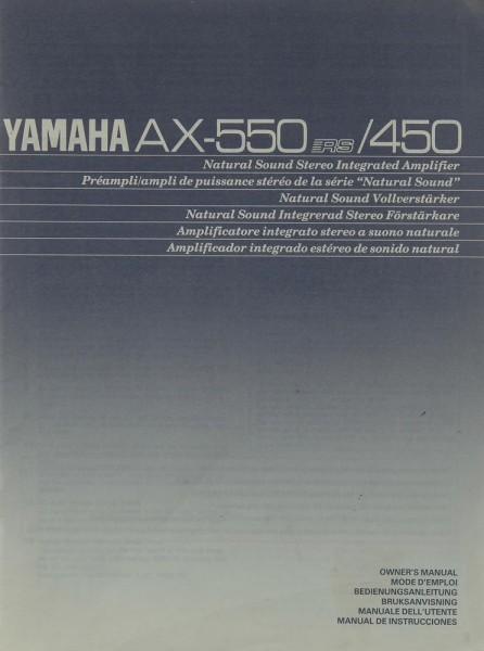 Yamaha AX-550 RS / 450 Bedienungsanleitung