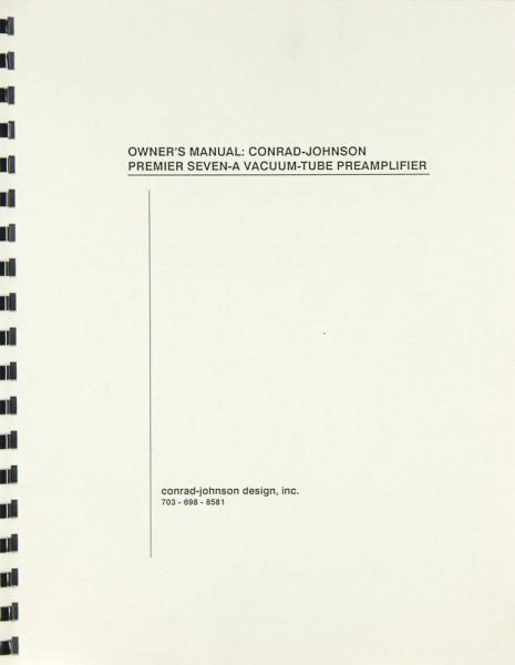 Conrad-Johnson Premier Seven-A Bedienungsanleitung