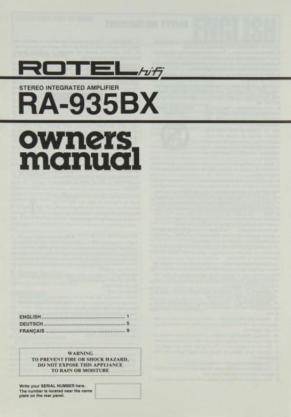 Rotel RA-935 BX Bedienungsanleitung