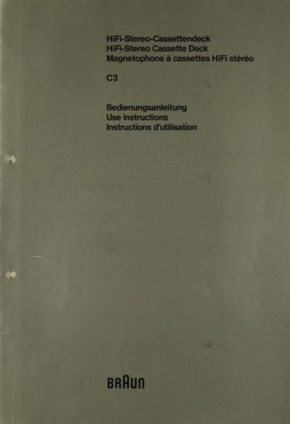 Braun C 3 Bedienungsanleitung