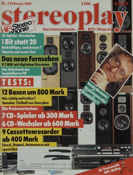 Stereoplay 2/1989 Zeitschrift