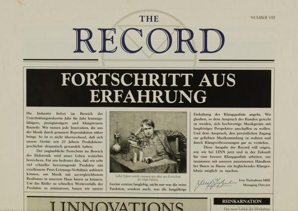 The Record Number VIII Zeitschrift