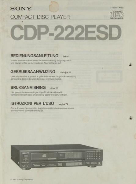 Sony CDP-222 ESD Bedienungsanleitung