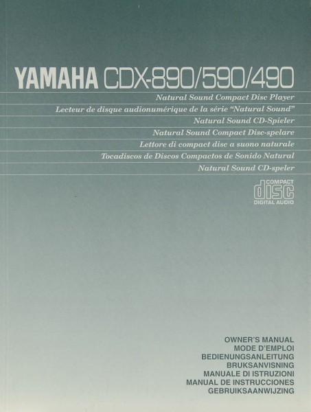 Yamaha CDX-890/590/490 Bedienungsanleitung