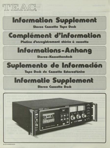 Teac Model C-1 Information