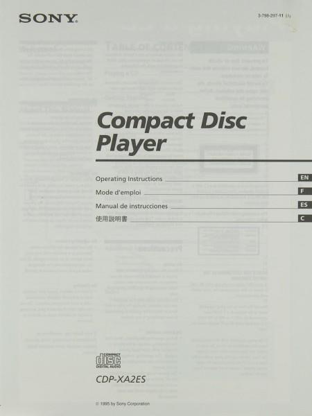 Sony CDP-XA 2 ES Bedienungsanleitung