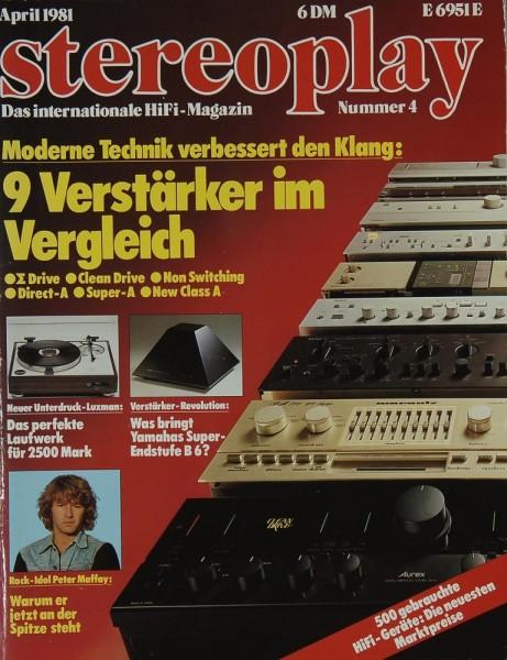 Stereoplay 4/1981 Zeitschrift