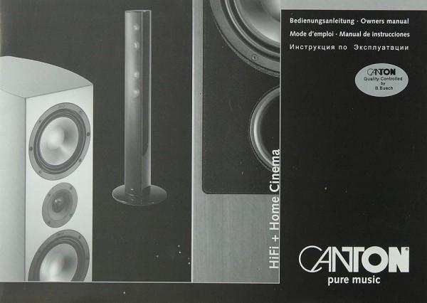 Canton Hifi & Home Cinema Bedienungsanleitung
