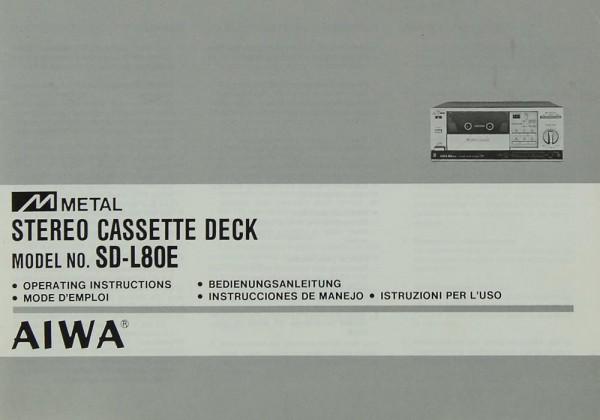 Aiwa SD-L 80 E Bedienungsanleitung