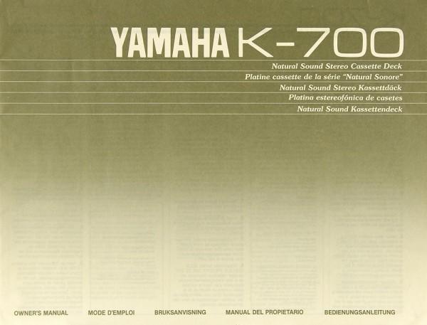 Yamaha K-700 Bedienungsanleitung