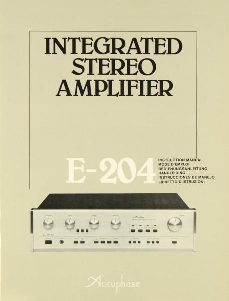 Accuphase E-204 Bedienungsanleitung