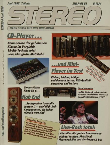 Stereo 6/1988 Zeitschrift
