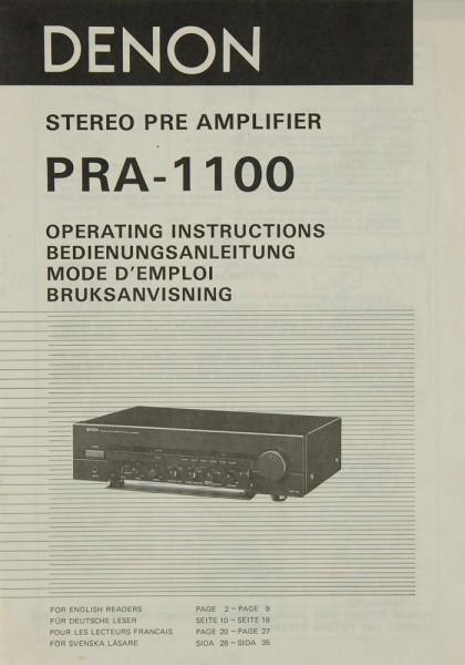 Denon PRA-1100 Bedienungsanleitung