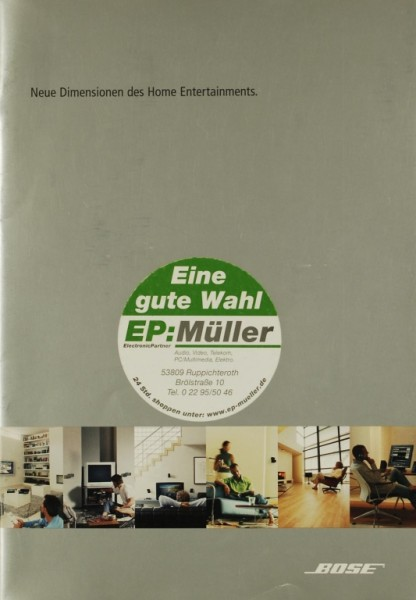 Bose Neue Dimensionen des Home Entertainments. (2004) Prospekt / Katalog