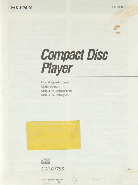 Sony CDP-C 77 ES Bedienungsanleitung