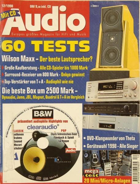 Audio 12/1998 Zeitschrift