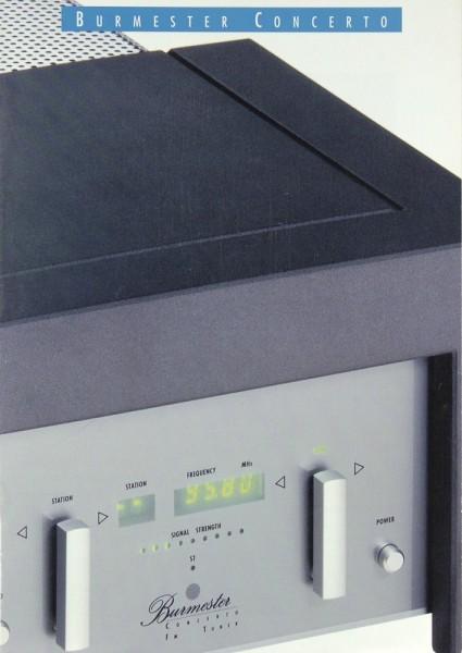 Burmester Concerto Serie Prospekt / Katalog