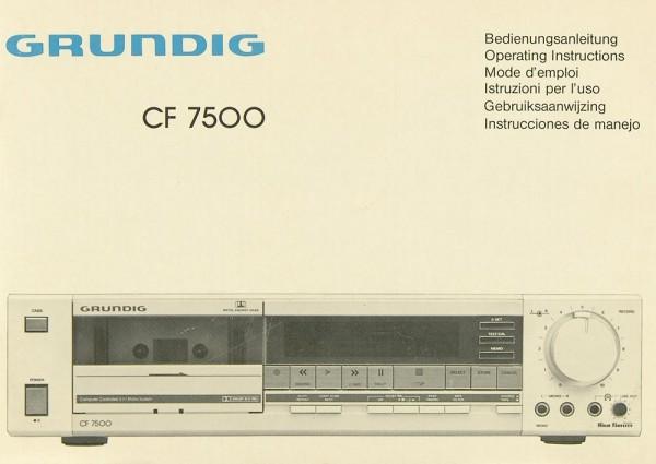Grundig CF 7500 Bedienungsanleitung
