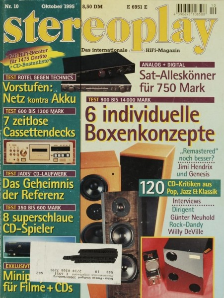 Stereoplay 10/1995 Zeitschrift
