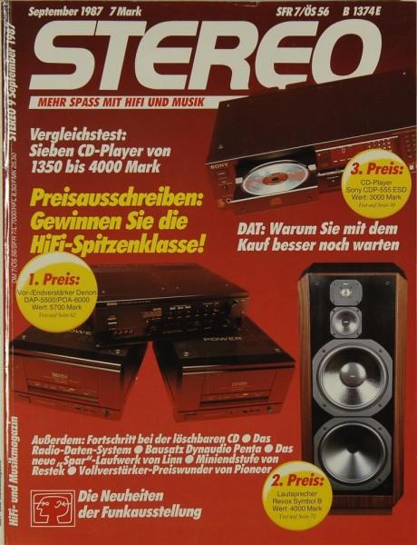 Stereo 9/1987 Zeitschrift