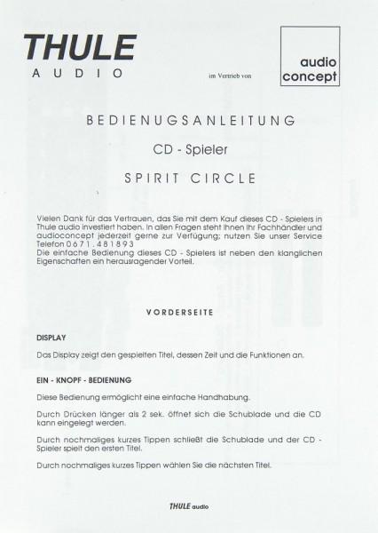 Thule Spirit Circle Bedienungsanleitung
