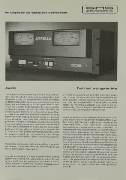 GAS Ampzilla Prospekt / Katalog