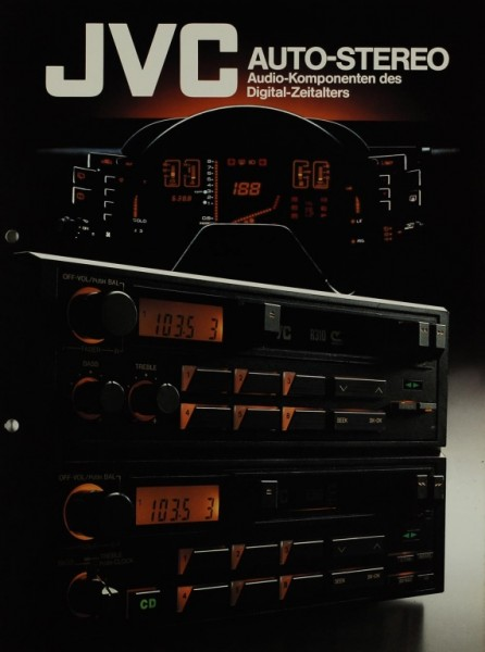 JVC Auto-Stereo Prospekt / Katalog