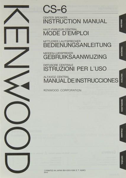 Kenwood CS-6 Bedienungsanleitung