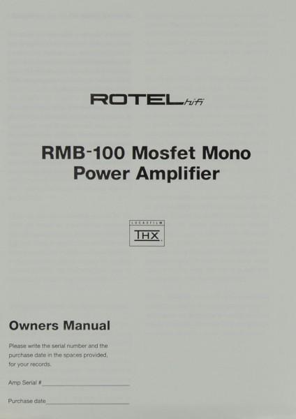 Rotel RMB-100 Bedienungsanleitung