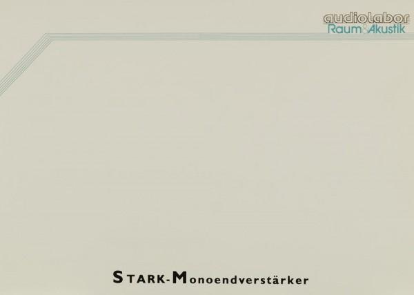 Audiolabor (Raum&Akustik) STARK-Monoendverstärker Prospekt / Katalog