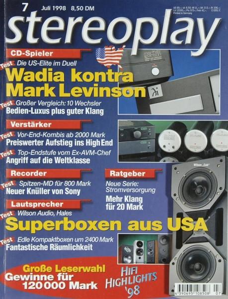 Stereoplay 7/1998 Zeitschrift