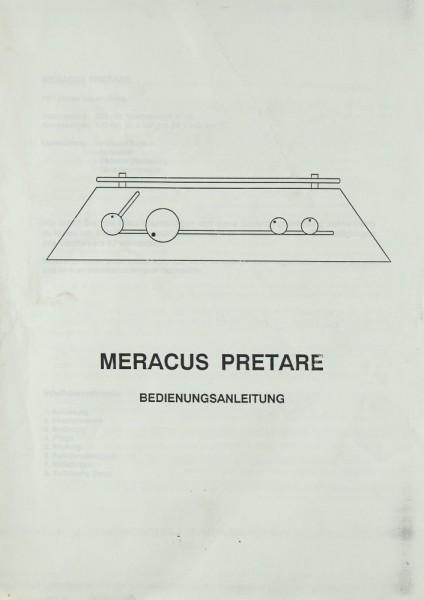 Meracus Pretare Bedienungsanleitung