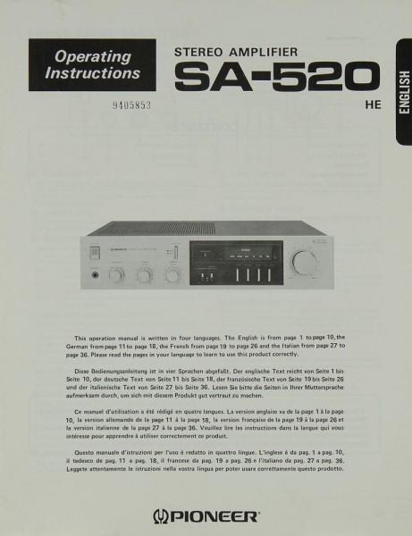 Pioneer SA-520 Bedienungsanleitung