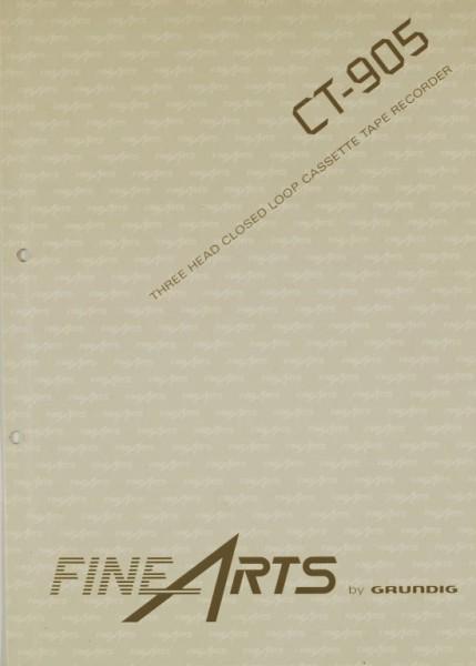 Fine Arts / Grundig CT-905 Bedienungsanleitung