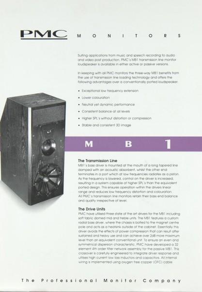 PMC MB 1 Bedienungsanleitung
