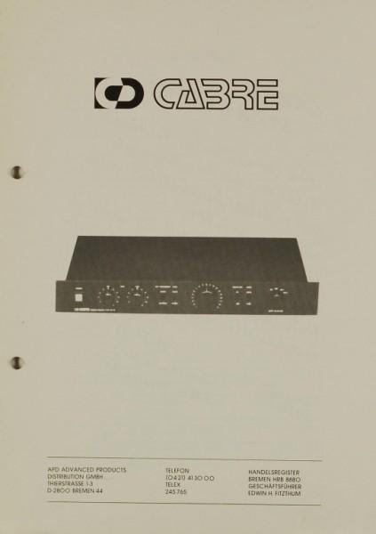 Cabre AS Serie Prospekt / Katalog