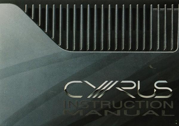 Cyrus Cyrus System Commander Bedienungsanleitung