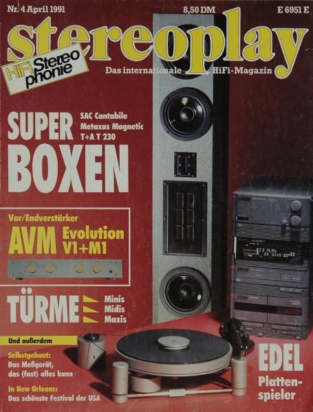 Stereoplay 4/1991 Zeitschrift