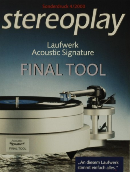 Acoustic Signature Final Tool Testnachdruck