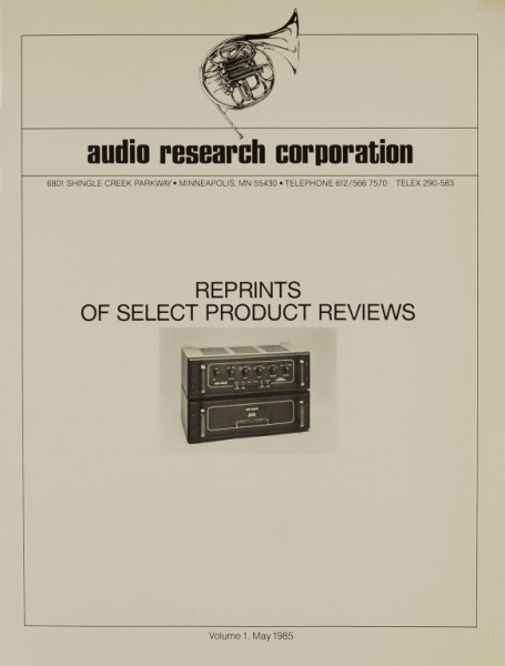 Audio Research Corporation Reprints of Select Product Reviews Testnachdruck