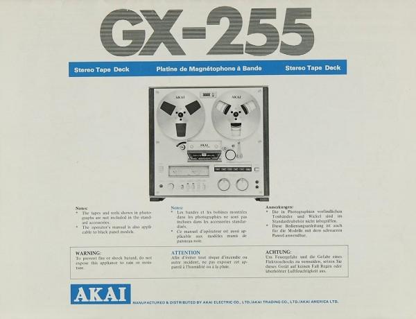 Akai GX-255 Bedienungsanleitung
