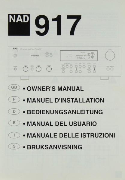 NAD 917 Bedienungsanleitung