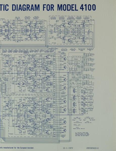 Marantz Model 4100 Schaltplan / Serviceunterlagen